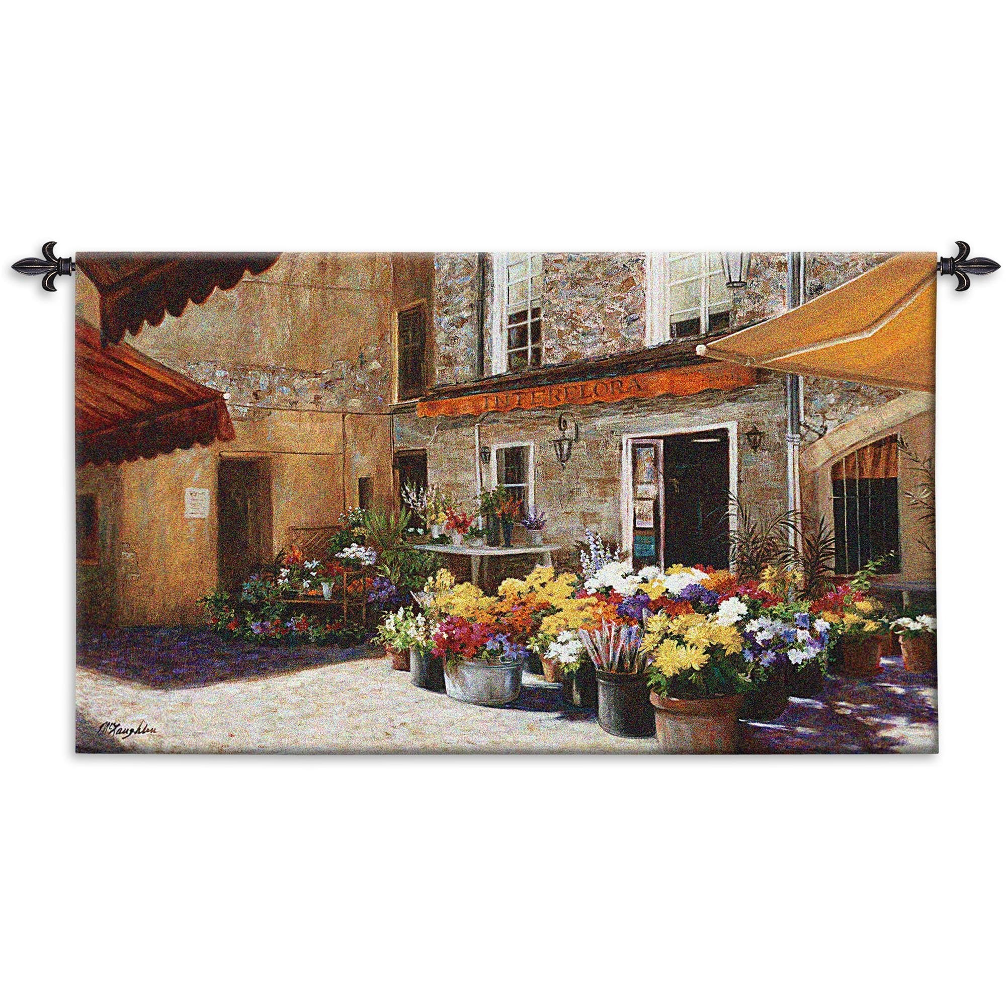 The Flower Shop Woven Textile Tapestry for Room