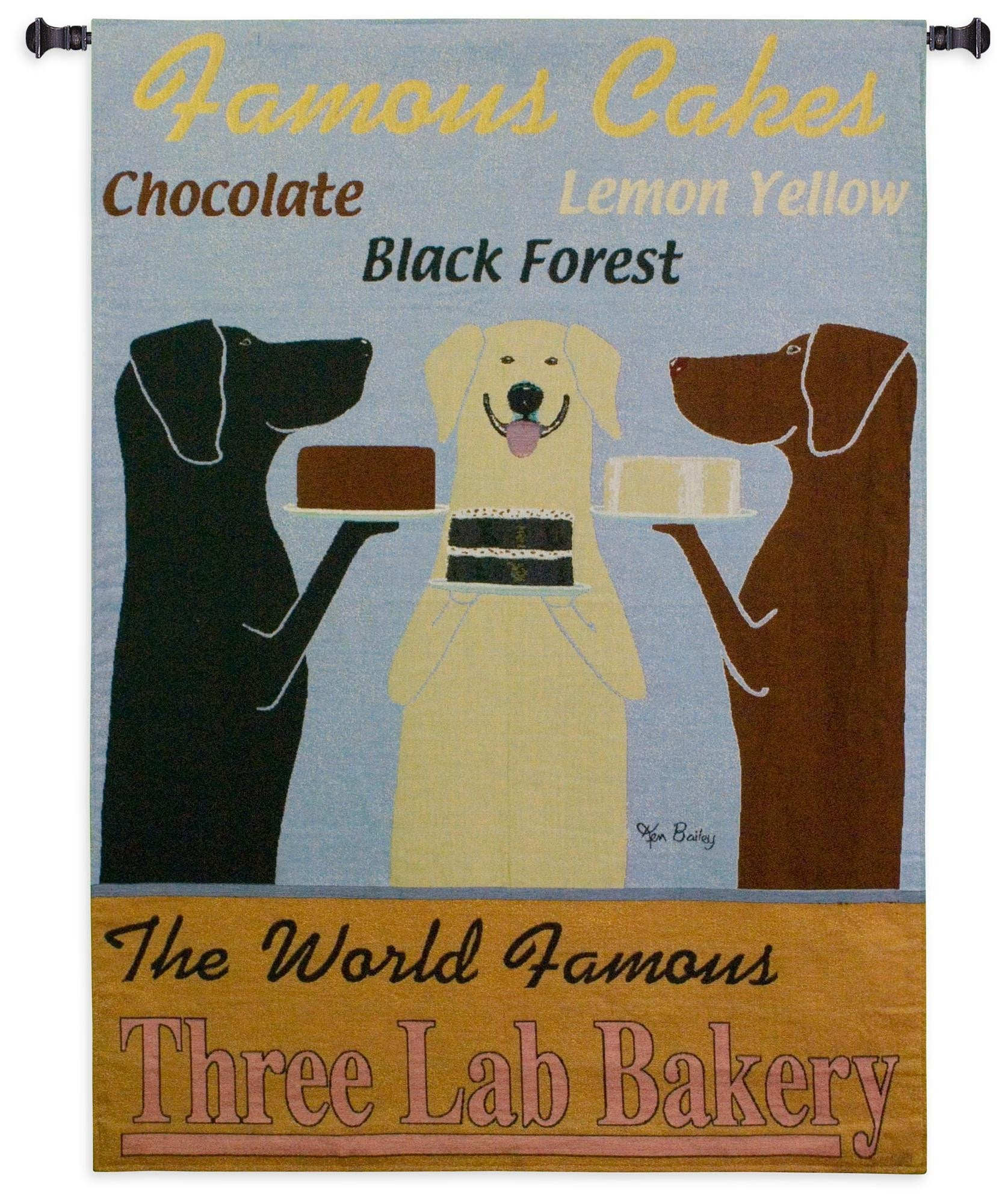 Famous Cakes Bakery Woven Tapestry
