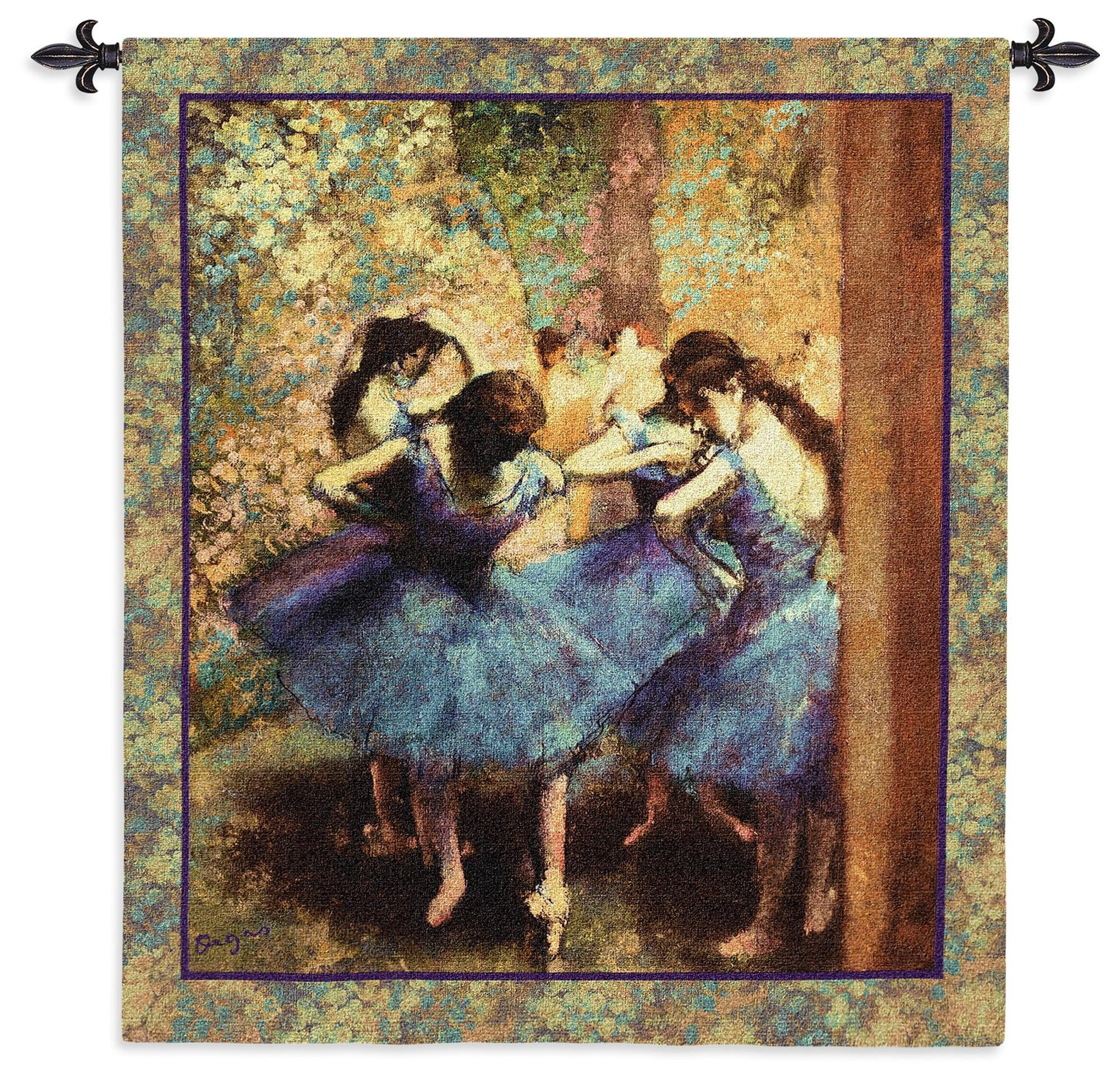 Dancers in Blue by Degas Woven Wall Art
