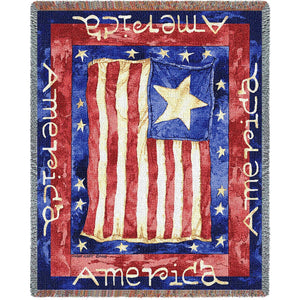 Patriotic American Afghan Throws