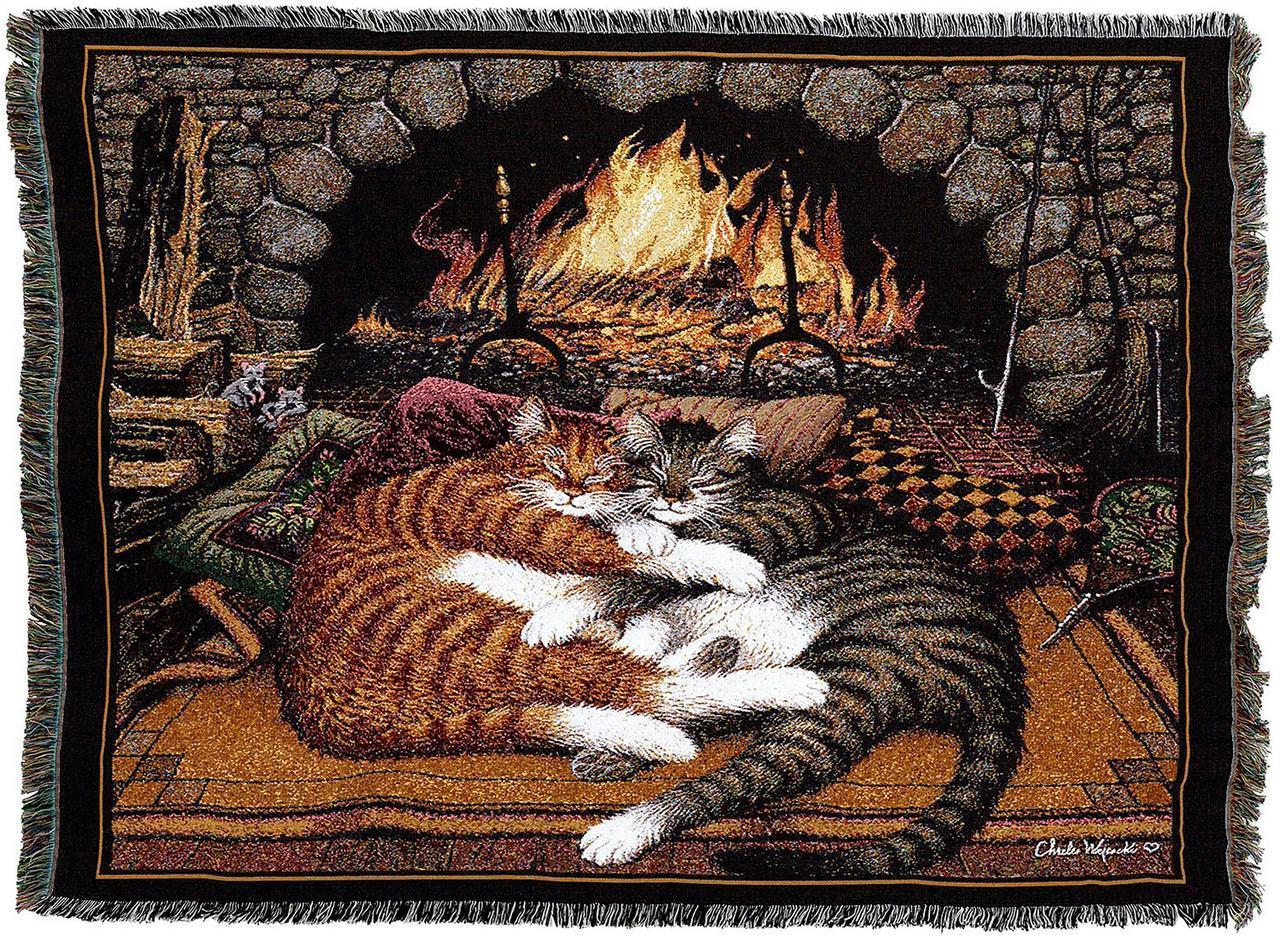 All Burned Out Woven Tapestry Throw Blanket