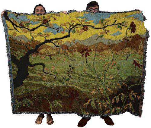Apple Orchard Woven Textile Tapestry