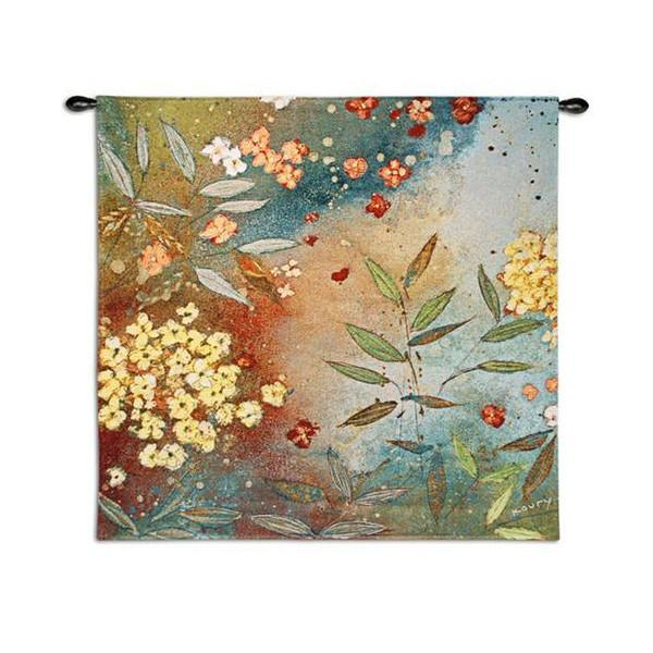 Gardens in The Mist Woven Wall Hanging