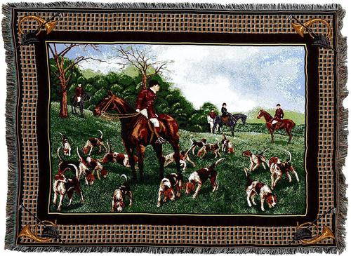 Fox Hunt Woven Throw Blanket
