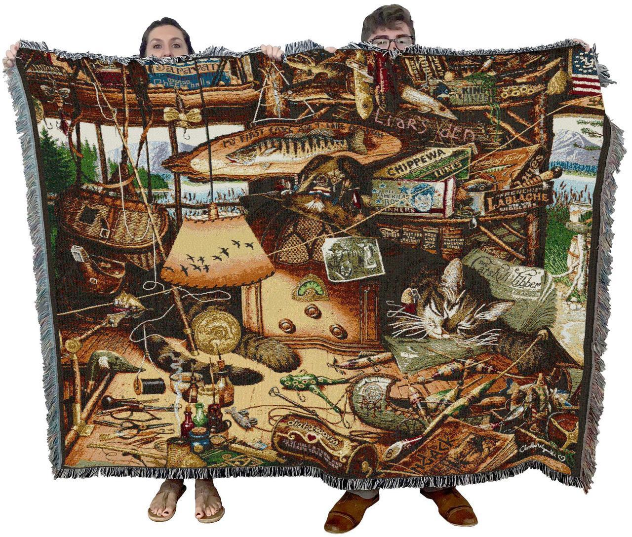 Max in the Adirondacks - Cat Throw Blanket