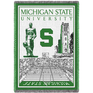 Michigan State University Spartans Stadium Blanket Throw