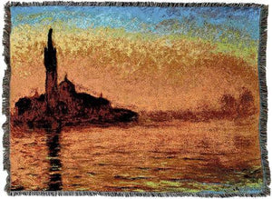 Evening in Venice by Van Gogh Woven Blanket