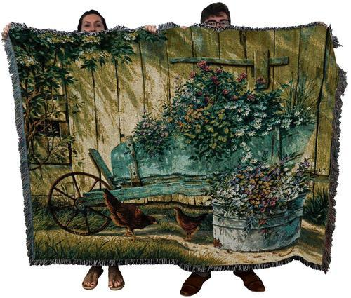 Large Rustic Cotton Woven Textile Tapestry