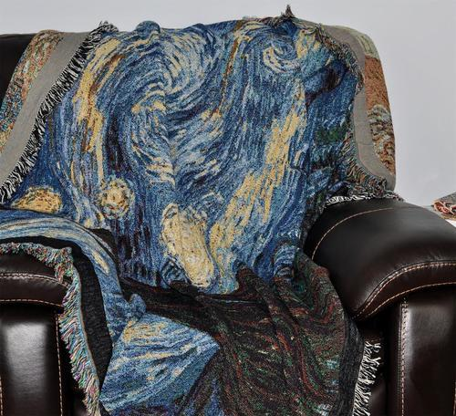 Starry Night Woven Throw Blanket