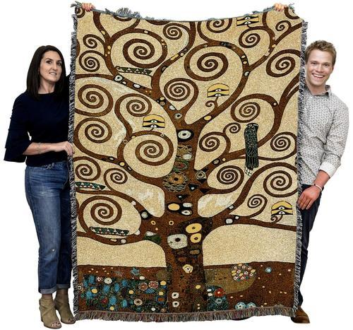 Tree of Life by Klimt Woven Afghan