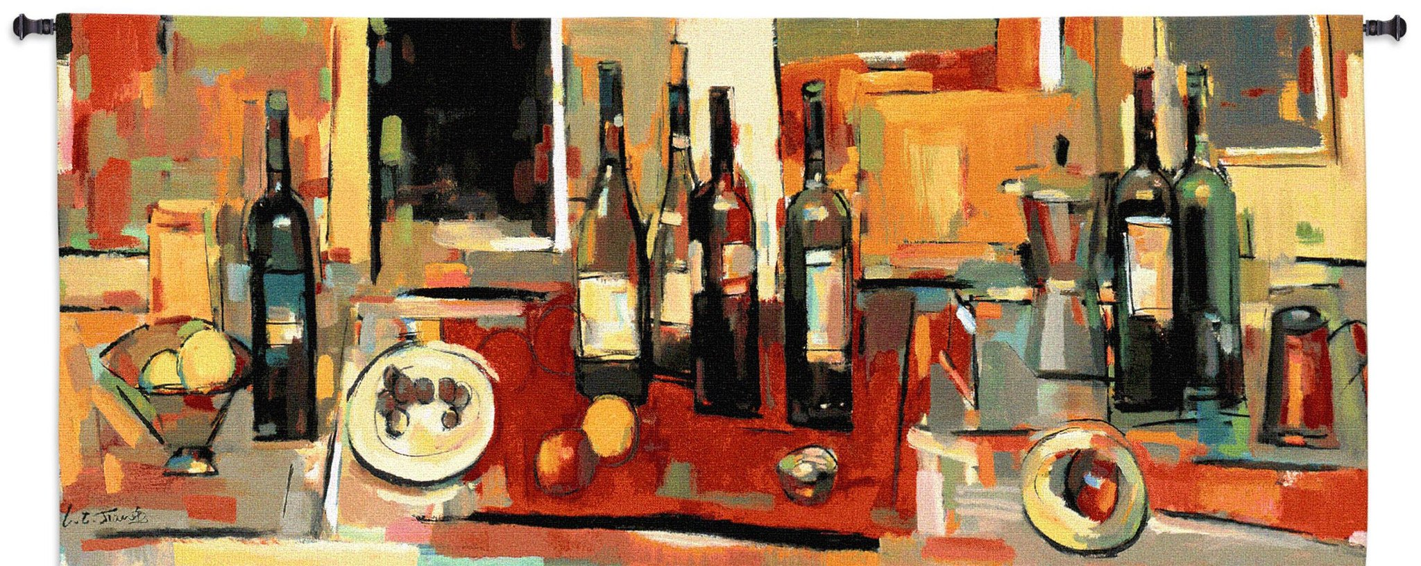 Vin Rouge Panel Wine Bar Tapestry