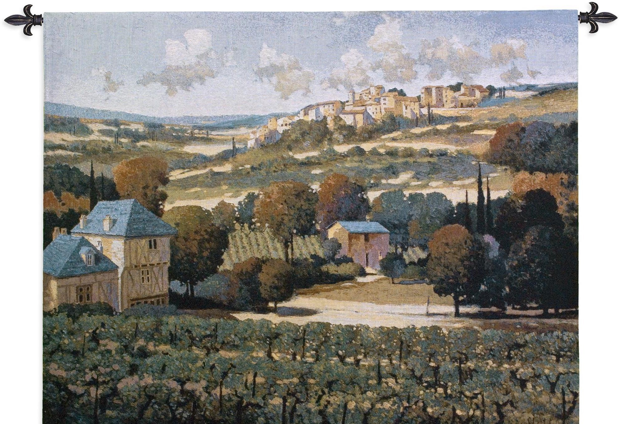 Vineyards of Provence French Woven Tapestry