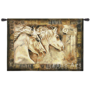 Messengers of Spirit Equestrian Tapestry Wall Hanging