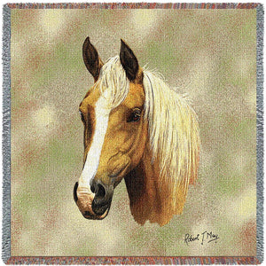 Palomino Horse Throw Blanket Set