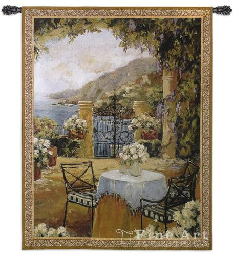 Seaside Terrace Wall Hanging Tapestry