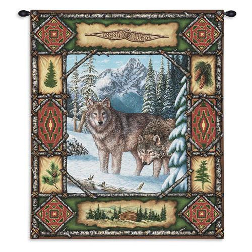 Wolves Lodge Wall Hanging Tapestry