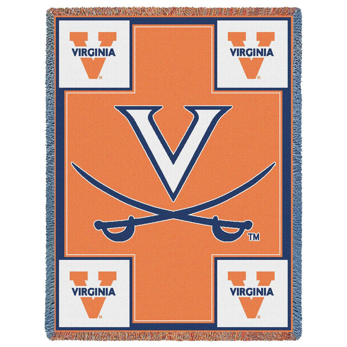 University Of Virginia Go Cavaliers Stadium Blanket Throw