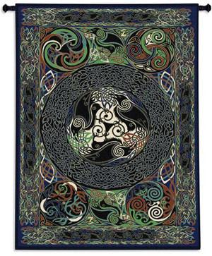 Raven Panel Tree of Life Tapestry