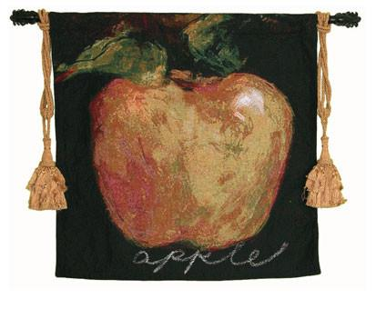 Green Apple Woven Textile Tapestry