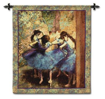 Dancers in Blue by Degas Room Textile Hanging