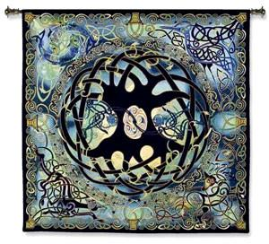 Celtic Blue Wall Tapestry