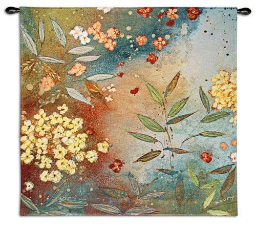 Gardens in The Mist Wall Hanging Tapestry