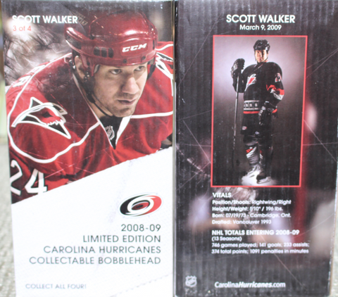 2008-09 Carolina Hurricanes Scott Walker Bobblehead SGA