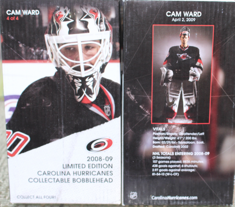 2008-09 Carolina Hurricanes Cam Ward Bobblehead SGA