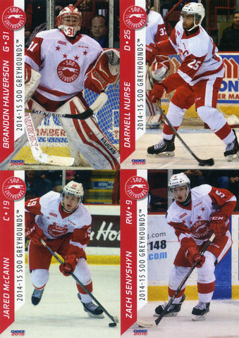 2014-15 Sault Ste-Marie Greyhounds - Choice Marketing [OHL] # 6 Keigan Goetz