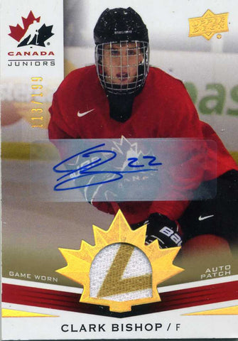 2014-15 Upper Deck Team Canada - Autograph Patch -   # 173 Clark Bishop #/199
