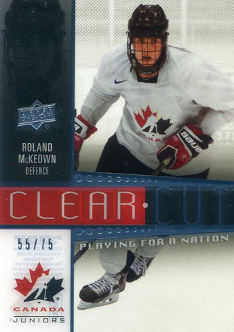 2014-15 Upper Deck Team Canada Clear Cut # 134 Roland McKeown #/75