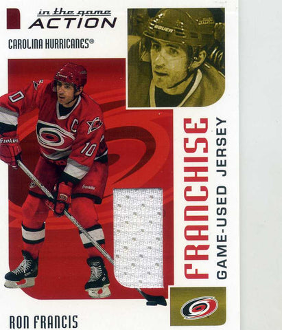 2003-04 In The Game Action - Franchise Jersey  # M-246 Ron Francis (white)