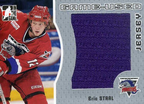 2005-06 In The Game Heroes & Prospects -Game Used Jersey # GUJ-16 Eric Staal