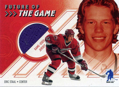 2003-04 Be A Player Memorabilia - Future of the Game - Jersey # FG-19 Eric Staal