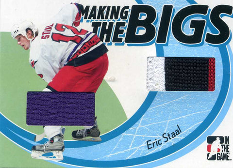 2005-06 In The Game Heroes & Prospects - Making the Bigs - Dual Jersey # MTB-05 Eric Staal