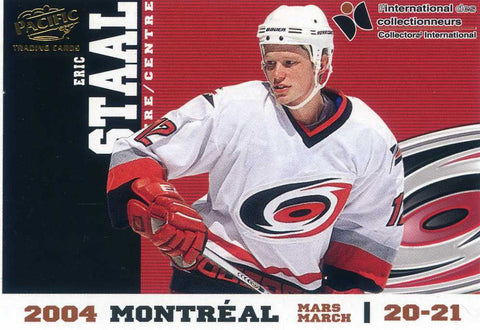 2004 Pacific - Montreal Collectors International Redemption  - GOLD - # 2 Eric Staal # /99