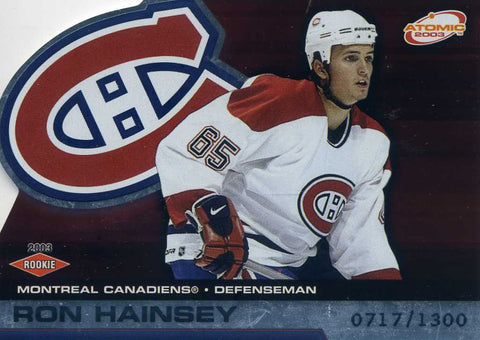 2002-03 Atomic- Rookie # 115 Ron Hainsey #/1300