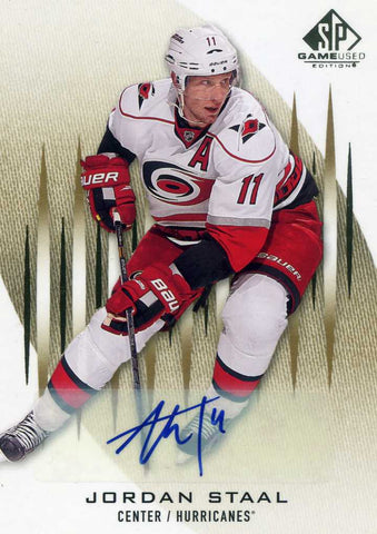 2013-14 SP Game Used - Autograph # 84 Jordan Staal