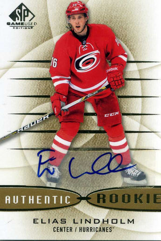 2013-14 SP Game Used - Autograph # 138 Elias Lindholm
