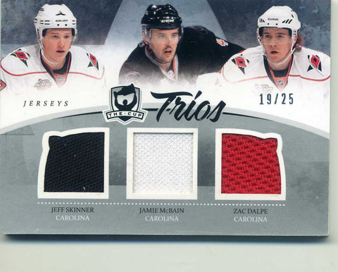 2010-11 The Cup - Triple Jersey # C3-CAR Zac Dalpe, Jamie McBain, Jeff Skinner # 19/25