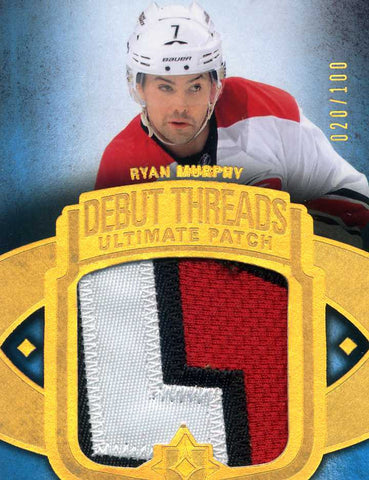 2013-14 Upper Deck Ultimate Collection - Debut Threads Ultimate Patch # UDT-RM Ryan Murphy #/100