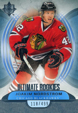 2013-14 Upper Deck Ultimate Collection - Ultimate Rookies # 113 Joakim Nordstrom #/499