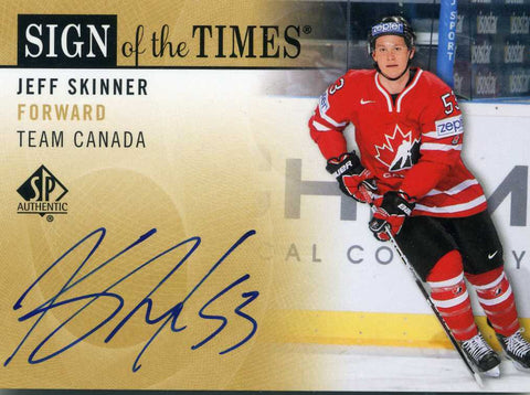 2012-13 SP Authentic - Sign of the Times - Team Canada - Autograph - # SOT-SK Jeff Skinner
