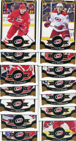 2015-16 O Pee Chee - 14 Card Carolina Hurricanes Team Set