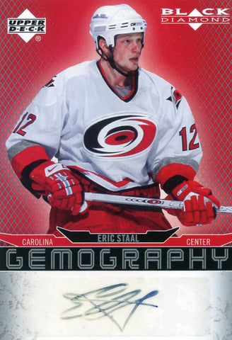 2007-08 Black Diamond - Gemography - Autograph # G-ES Eric Staal
