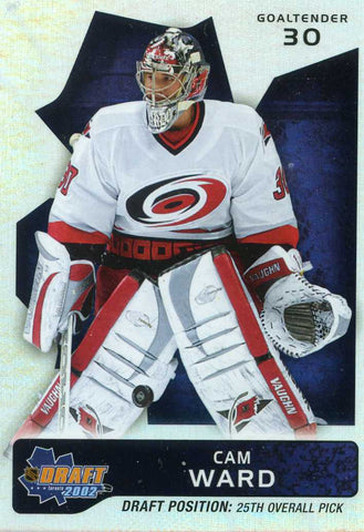 2002-03 Be A Player - Draft Position Redemption - # 25 Cam Ward # 44/100