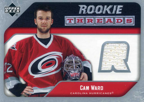 2005-06 Upper Deck -  Rookie Threads - Jersey - # RT-CW Cam Ward (white)