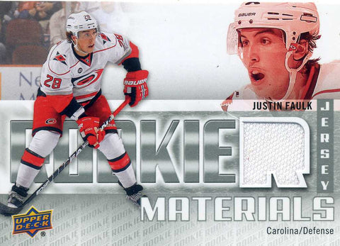 2011-12 Upper Deck - Rookie Materials - Jersey -  # RM-JF Justin Faulk