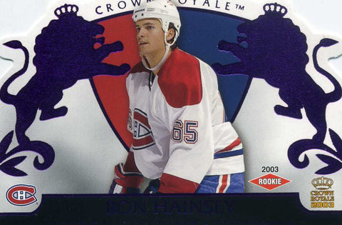 2002-03 Crown Royale - Purple # 123 Ron Hainsey #/799
