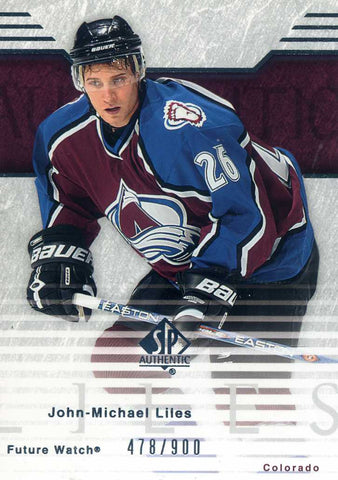 2003-04 SP Authentic - Future Watch # 102 John Michael Liles #/900